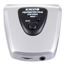 Pedômetro Com Display Digital Em Lcd E Rádio Fm Pd40 Kikos -