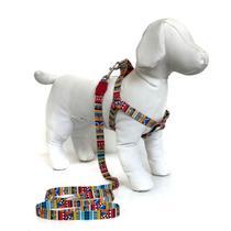 Peitoral e Guia para cachorros - Tamanho Médio - Modelo Afrika - Petzoo