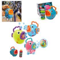 Peixinho lanca bolha de sabao brinquedo manual lancador de bolhas menino menina - GIMP
