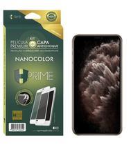 Pel. HPrime Kit com Capa Apple iPhone 11 Pro - Preto c/ acessorios - NanoColor - Hprime Películas