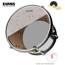 Pele para surdo/bumbo 16 Hidráulica - Evans Hydraulic Glass Clear - Filme Duplo com Anel Level 360º - Musical express comercio ltda
