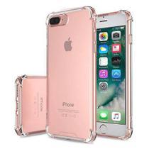 Película 3D de Vidro Branca Iphone 7 Plus + Capa Anti Shock Transparente - Acessórios Iphone