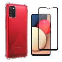 Película 3d De Vidro Samsung Galaxy A02S + Capa Anti Impactos - Hrebos
