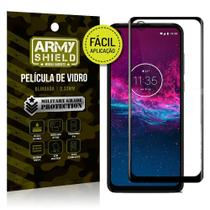 Película 3D Fácil Aplicação Motorola Moto One Action - Armyshield -