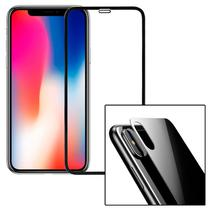 Película 3d Iphone X 10 Tela Inteira Borda Frontal Traseira Kit 2x frente e tras - Hardfast