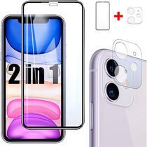 Película 3D Vidro + Película Lente Câmera iPhone 11 - Encapar