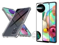 Película 3d Vidro Temperado + Capa Air Samsung Galaxy A71 - Lxl
