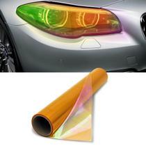 Película Adesivo Camaleão Laranja Lanterna Farol 2mx30cm Uso Universal Carros Motos Barcos Jet Skis - Solarium