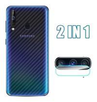 Pelicula da Camera Galaxy A20s + Skin Verso Fibra Carbono - Flex