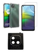 Película De Nano Gel Motorola Moto G9 Power + Película Da Lente Câmera + Capa Reforçada - Dv