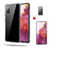 Película De Nano Gel Samsung Galaxy S20 FE + Película Da Lente + Capa Reforçada - Dv Acessorios