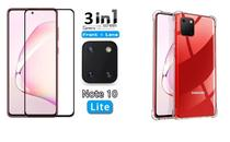 Película De Vidro 3D 5D Samsung Galaxy Note 10 Lite + Película Da Lente + Capa Reforçada - Dvacessorios