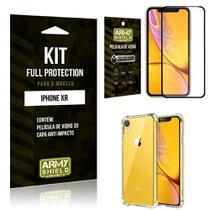 Película de Vidro 3D Iphone XR + Capinha Anti Impacto - Armyshield -