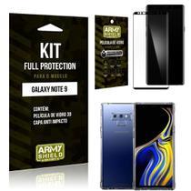 Película de Vidro 3D Samsung Note 9 + Capinha Anti Impacto - Armyshield -