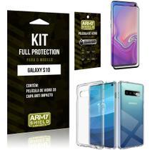 Película de Vidro 3D Samsung S10 + Capinha Anti Impacto - Armyshield -