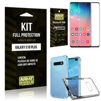Película de Vidro 3D Samsung S10Plus + Capinha Anti Impacto - Armyshield -