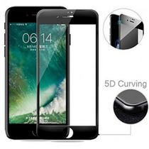 Pelicula De Vidro 5d / 6d Iphone 6 plus ou 6S plus Preto - Glass shield