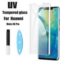 Película De Vidro Curvada 3D Cola Uv Huawei Mate 30 Pro  - Transparente - M10