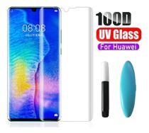 Película De Vidro Curvada 3D Cola Uv Huawei P30 Pro  - Transparente - M10