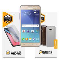 Película de Vidro Dupla + Traseira fibra de carbono para Samsung Galaxy J5 Metal - Gshield -