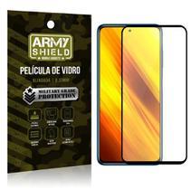 "Película de Vidro Poco X3 Blindada para tela 6,67"" Full Cover - Armyshield -"