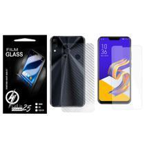 Pelicula de Vidro + Skin Fibra de carbono Zenfone 5Z Ze620kl (Tela 6.2) - Cell In Power25