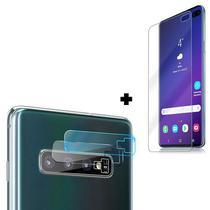 Película Gel Frente Galaxy S10 Plus + Película Câmera Lente - Encapar