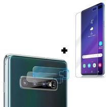 Película Gel Samsung Galaxy S10 Plus + Película Câmera Lente S10+ - Encapar
