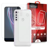 Pelicula Hydrogel HD Frente e Verso Motorola One Fusion Plus - 100% Transparente - Seewell