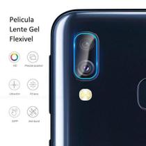 Película Nano Gel Flexível P/Lente de Câmera Samsung Galaxy A10 + Capa Reforçada Antishock - Glass