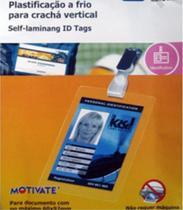 Pelicula Plastificação a Frio Cracha Vertical 70x107mm 10 Und - Motivate