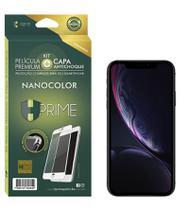 Película Premium HPrime  IPhone Xr - Preto - Kit NanoColor (Acompanha Capa Protetora) -