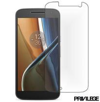 Película Protetora para Moto G4 Play TV de Vidro Temperado - Privilege - PRIVPMG4PTVCLR -