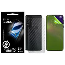 Pelicula Skin Fibra de Carbono + Pelicula De Gel Motorola G8 Play XT2015-2 (Tela 6.2) - Cell In Power25