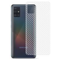 Película Traseira Adesivo Skin Fibra Carbono Samsung A71 - Hrebros