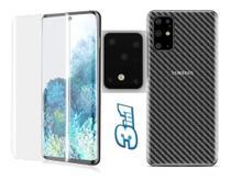 Película Traseira Galaxy S20 Plus + Pelicula Nano + Pelicula da Camera - Flex