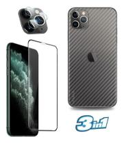 Película Traseira iPhone 11 Pro Max + Pel Vidro 9D + Pel Da Camera Nano Vidro Flexivel -