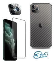 Película Traseira iPhone 11 Pro + Pel Vidro 9D + Pel Da Camera Nano Vidro Flexivel -