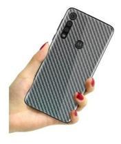 Película Traseira verso Fibra Carbono Motorola Moto G8 Plus - AS.ELETRO