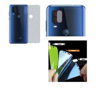 Película Verso Fibra Carbono + P. Câmera Lente + P. Nano Gel Moto One Vision - Dv