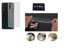 Película Verso Fibra Carbono + P. Câmera Lente + P. Nano Gel Para Motorola Moto G8 Plus - Dv