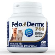 PELO & DERME 750 - frasco com 60 comprimidos - Vetnil