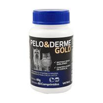 Pelo & Derme Gold 60 comp. Suplemento Cães e Gatos - Vetnil -