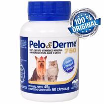 Pelo E Derme 750 Vetnil Cães E Gatos Com 60 Cápsulas -