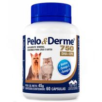 Pelo e Derme 750mg DHA + EPA  60 Comprimidos - VETNIL