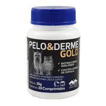 Pelo e Derme Gold 30 comp Vetnil Cães e Gatos Pele e Pelo -