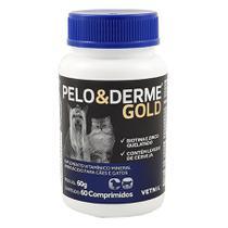 Pelo e Derme Gold 60 comp Vetnil Cães e Gatos Pele e Pelo -