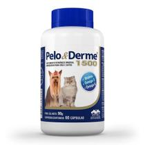Pelo E Derme Para Cães E Gatos 1500 Mg Dha+epa 60 Cápsulas - Vetnil -
