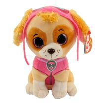 Pelúcia 15 Cm - Beanie Babies TY - Patrulha Canina - Skye - DTC -