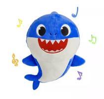 Pelúcia Baby Shark 25 Cm Azul Com Som - Issam